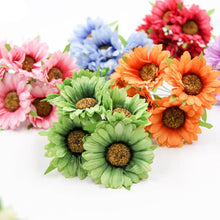 Load image into Gallery viewer, Artificial Sunflower  Bouquet for Party Wedding 6Pcs Craft Supplies