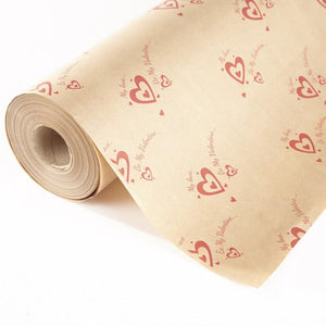Be My Valentine Brown Craft Paper