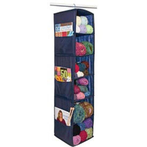 "6 Shelf Yarn & Craft Organizer 48""X11""X11""-Navy"