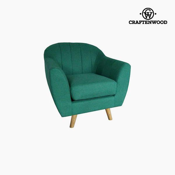 Armchair Polyester Green (83 x 83 x 83 cm) by Craftenwood