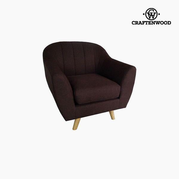 Armchair Polyester Brown (83 x 83 x 83 cm) by Craftenwood