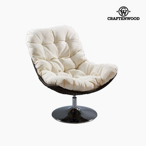 Armchair White (86 x 104 x 94 cm) by Craftenwood