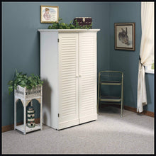 Load image into Gallery viewer, On amazon sauder 158097 harbor view craft armoire l 35 12 x w 21 81 x h 61 58 antiqued white finish