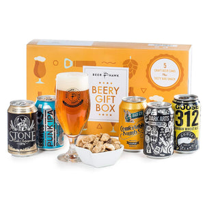Beer Hawk Beery Gift Hamper Selection Box – Craft Set with Glass &...