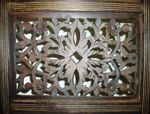 Shop for rajasthan antique brown 4 panel handcrafted wood room divider screen 72x80 intricately carved on both sides reversible hides clutter adds decor divides the room antique brown rajasthan