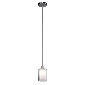 "Andover 4""w Polished Nickel Mini Pendant"
