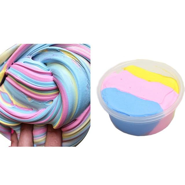 BalleenShiny Colorful Fluffy Toys Baby DIY Craft Mixed Colour Cotton Clay Child Kids Stress Relief Plasticine Toys Gift