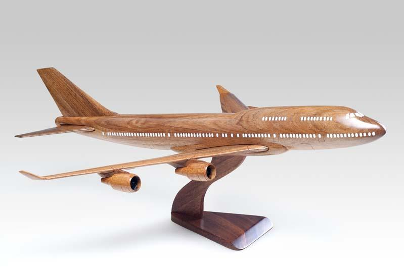 Boeing 747-400 Wooden Model Aircraft