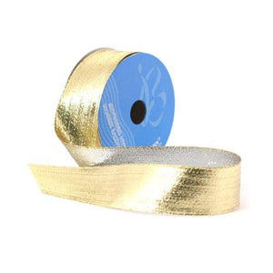 Berwick 1-1/2-Inch Wide by 10-Yard Spool Wired Edge Flipside Craft Ribbon, Gold