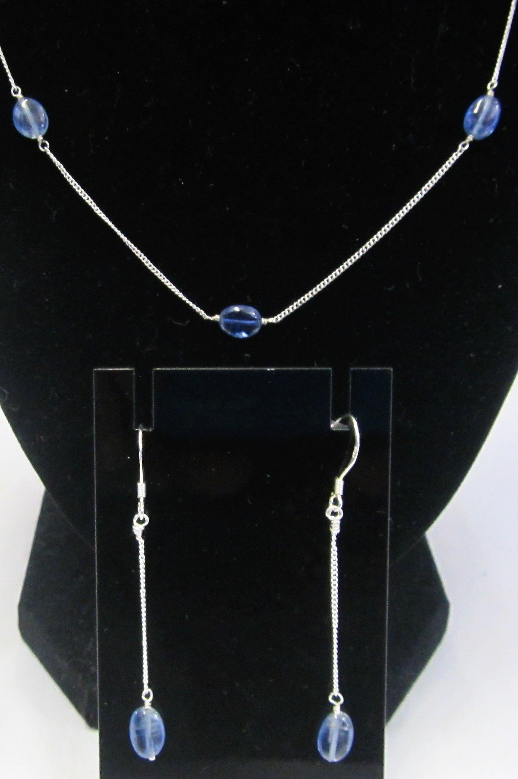 Beautiful handcrafted Kyanite 925 silver jewellery set