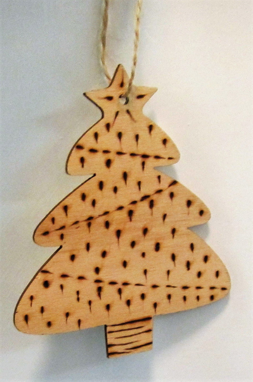 Beautiful handcrafted wooden tree decoration