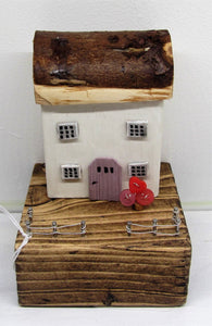 Beautiful handcrafted wooden cottages in various colours