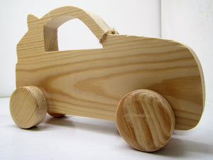 Beautiful unique handcrafted wooden Carl Car
