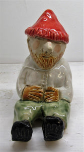 "Beautiful handcrafted ceramic frost proof ""Nigel"" the garden gnome"