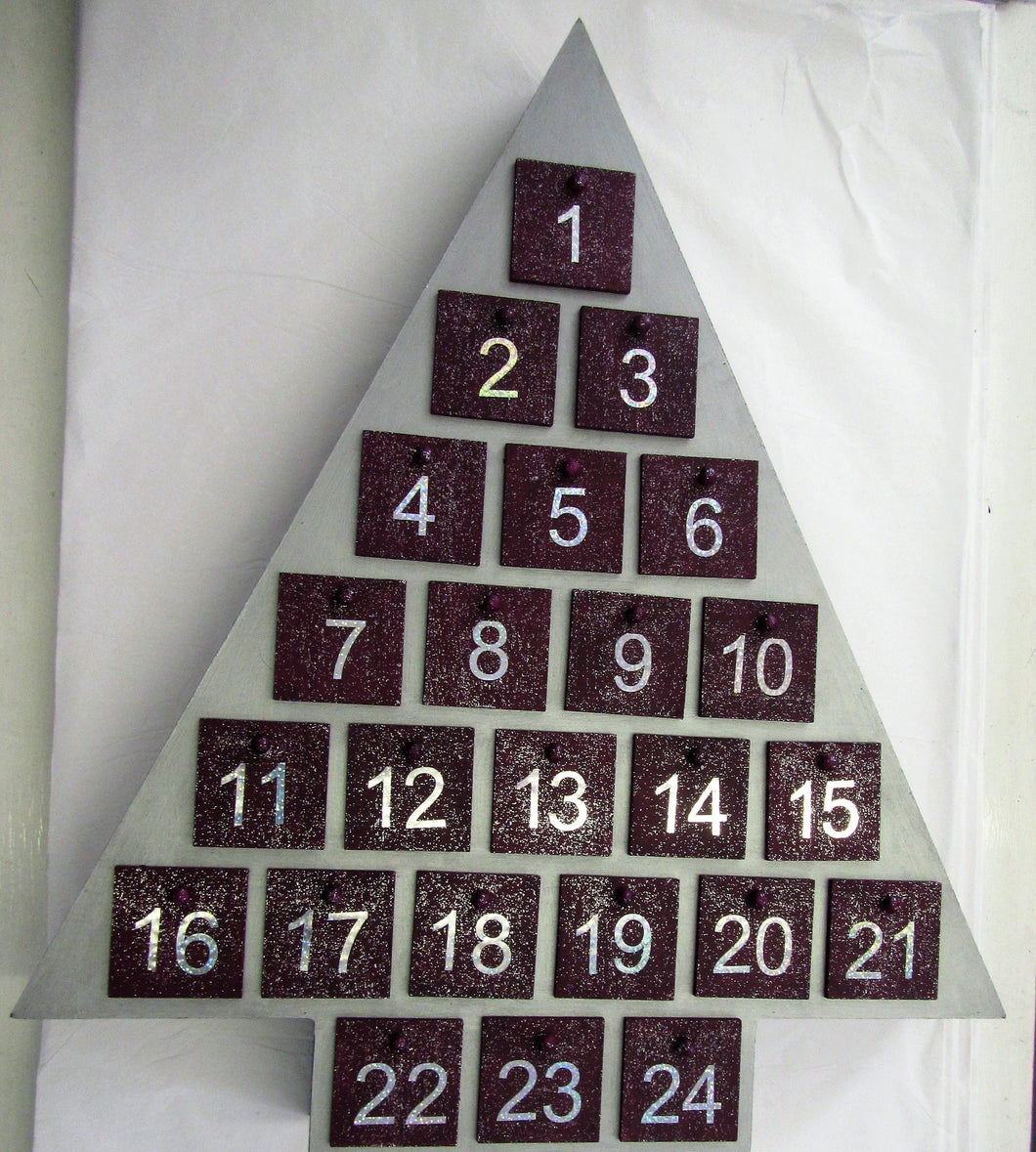 Beautiful handcrafted wooden Christmas Tree advent calendar