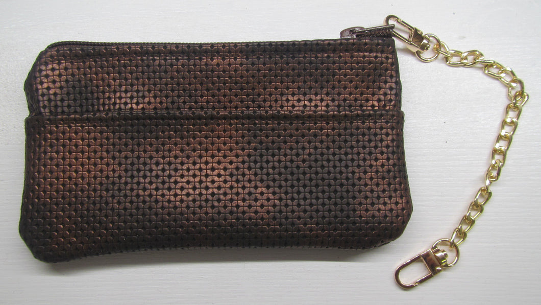 Beautiful handcrafted brass coloured purse with pockets on both sides
