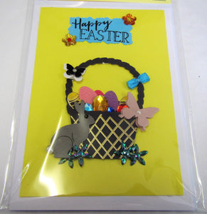 Beautiful handcrafted Easter card