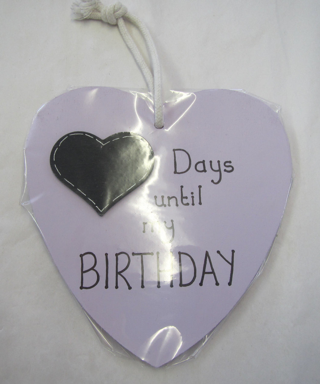 Beautiful handcrafted heart - days until my birthday