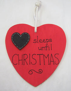 Beautiful handcrafted heart - Sleeps until Christmas