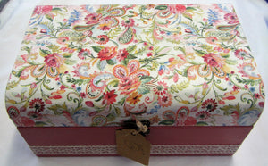 Beautiful hand crafted floral jewellery box