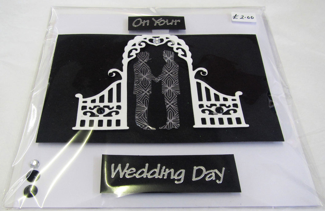 Beautiful handcrafted Wedding Card
