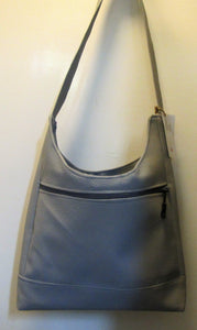 Beautiful handcrafted grey faux leather bucket bag