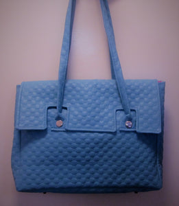 Beautiful handcrafted blue handbag
