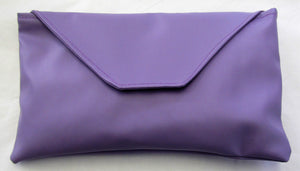Beautiful handcrafted lilac flux leather fabric evening bag