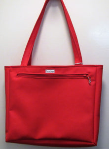 Beautiful handcrafted faux leather red handbag