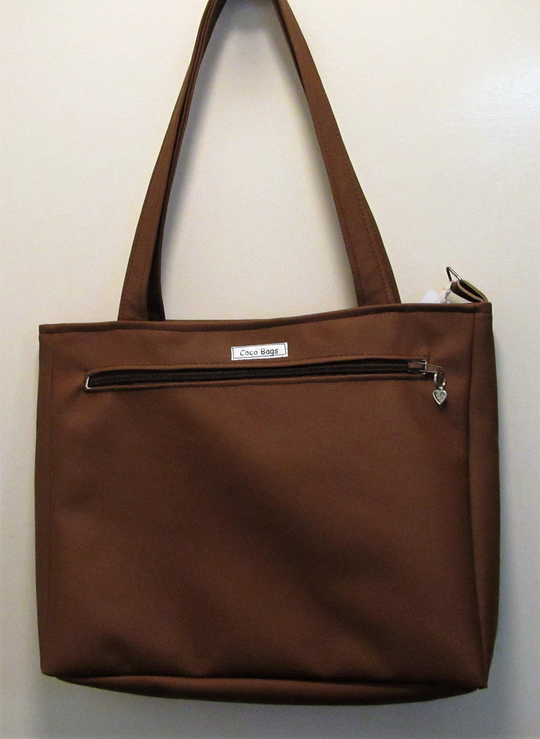 Beautiful handcrafted faux leather brown handbag