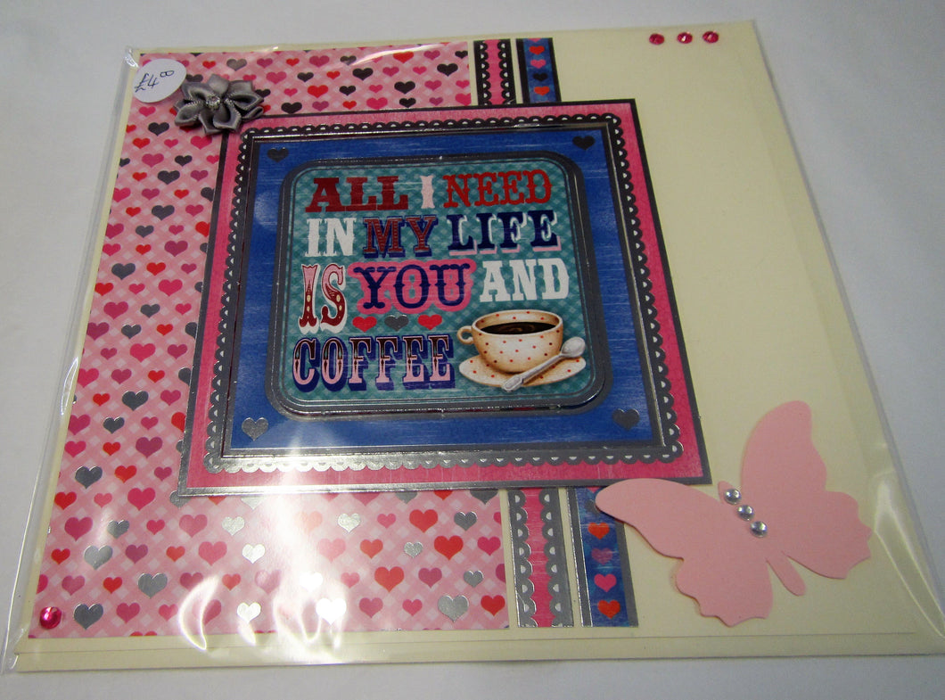 Beautiful handcrafted Valentines Day Card