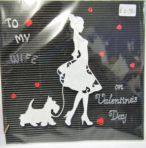 Beautiful handcrafted Valentine's Day Card