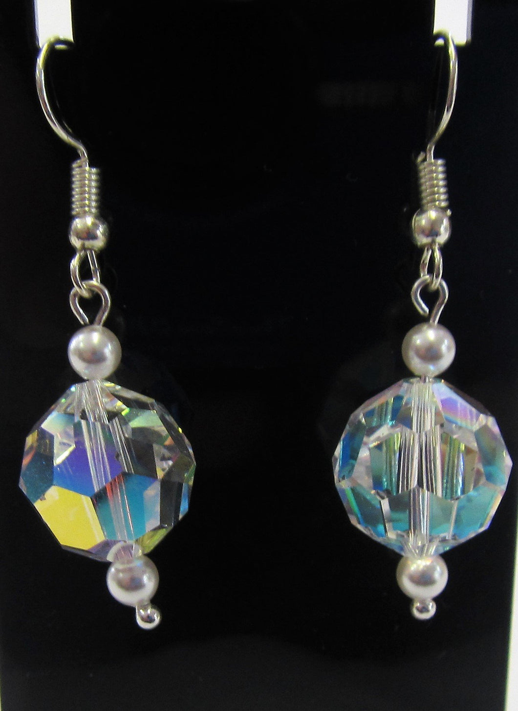 Beautiful handcrafted swarovski crystal earrings