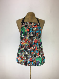 Avengers vintage marvel comics print handcrafted double sided apron