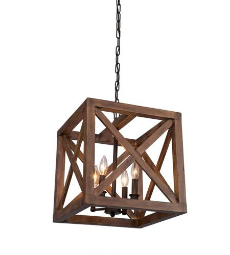 Artcraft Collingwood 15 in. wide Walnut Brown Pendant