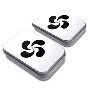 Basque Cross Lauburu Decorative Craft Trinket Metal Tin Box Set of 2