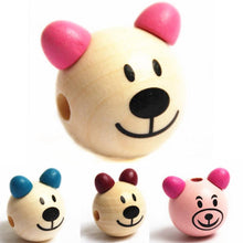 Load image into Gallery viewer, Bear Beads 5pcs Wooden Beads DIY For Kids Craft