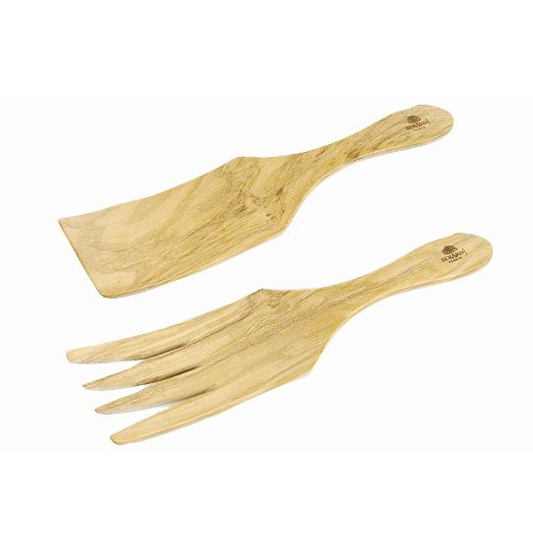 Berard Olive-Wood Handcrafted Wide Spaghetti/Salad Server
