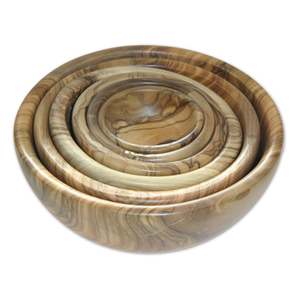 Berard Olive-Wood Handcrafted Bowl, Set Of 6