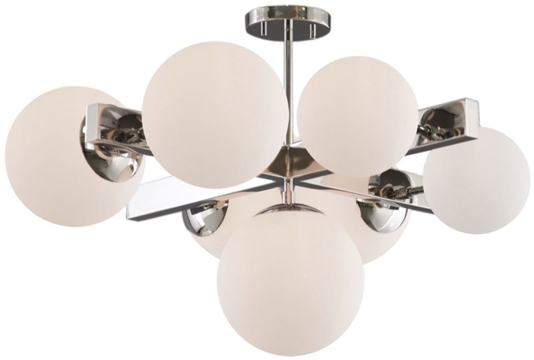 Artcraft Moonglow 27 in. wide Polished Nickel Semi-Flush Mount