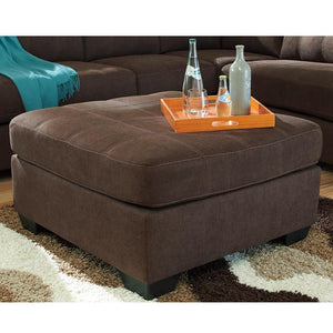 Benchcraft Maier Oversized Accent Ottoman in Microfiber