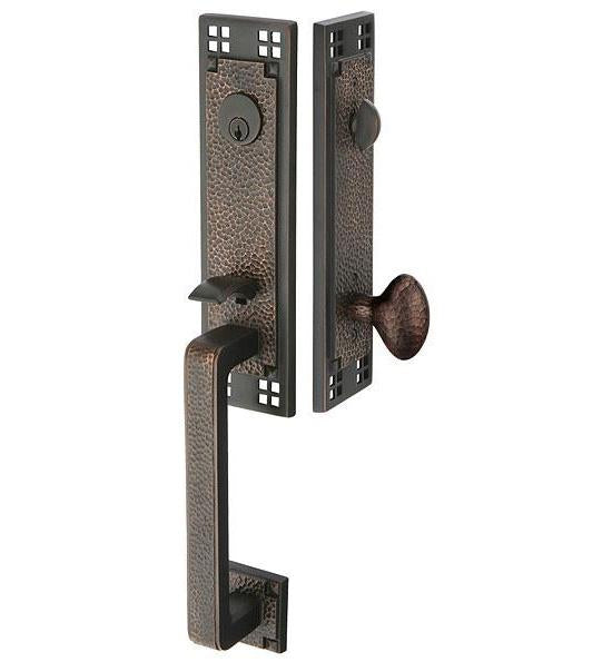 Arts & Crafts Style Tubular Latch Entryway Set