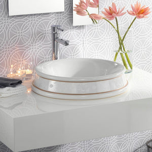 Arbo Handcrafted Fireclay Semi-Recessed Sink