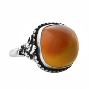 Arts & Crafts Sterling Silver Carnelian Cabochon Ring