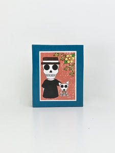 Best buds dia de muertos inspired handcrafted pop art frame by Ninoska Arte