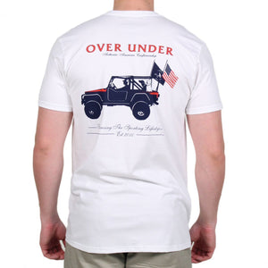 American Craftsmanship Tee in White by Over Under Clothing