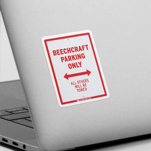 BeechCraft Parking Only - Sticker