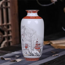 Load image into Gallery viewer, Antique Jingdezhen Ceramic Vase Eggshell Vase Desk Accessories Crafts Snow Flower Pot Traditional Chinese Style Porcelainvase