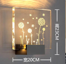 Load image into Gallery viewer, Bedroom etched glass wall lights