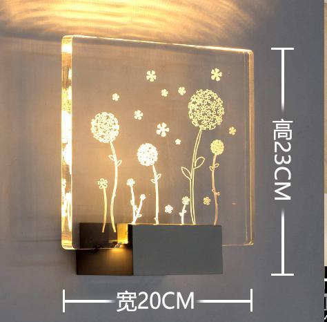 Bedroom etched glass wall lights